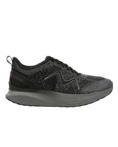 HURACAN-3000 Men's Lace Up Running Shoe in Black Castlerock