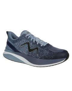 HURACAN-3000 Men's Lace Up Running Shoe in Dusty Blue Indigo