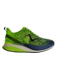 HURACAN-3000 Men's Lace Up Running Shoe in Green Blue Indigo