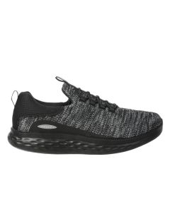 PISA Men's Slip On Fitness Walking Shoe in Black