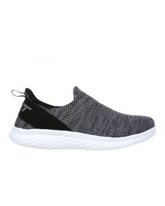 ROME-100 Air Mesh Women's Slip On Fitness Walking Shoe in Dark Grey