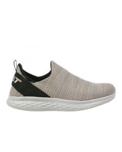 ROME-100 Air Mesh Men's Slip On Fitness Walking Shoe in Taupe