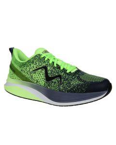 HURACAN-3000 Women's Lace Up Running Shoe in Green Blue Indigo