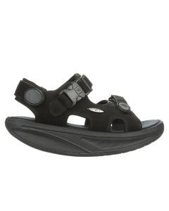 MBT KISUMU CLASSIC Women Casual Sandal in Black Nubuck