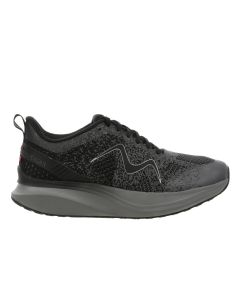 HURACAN-3000 Women's Lace Up Running Shoe in Black Castlerock