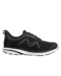 SPEED-1200 Men's Lace Up Running Shoe in Black