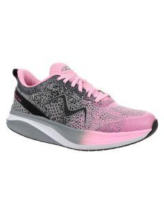 HURACAN-3000 Women's Lace Up Running Shoe in Grey/Pink